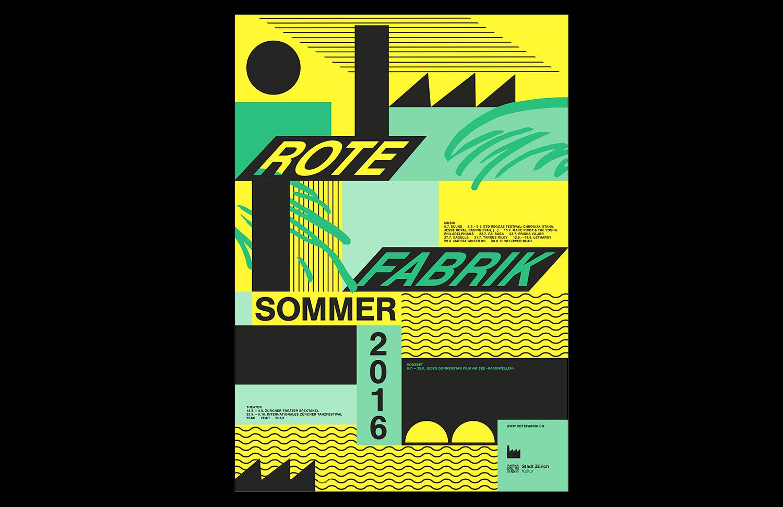 Sommerplakat Rote Fabrik